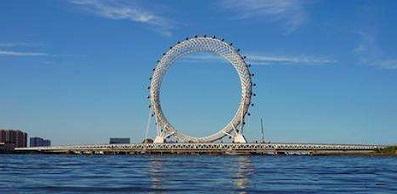 """世界最大无轴式摩天轮""""渤海之眼""""正式投用"""