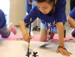 两岸儿童绘画书法作品展在郑州开幕