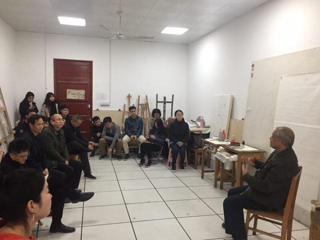 胡定南松柏艺术创作课在山师大美术学院举行