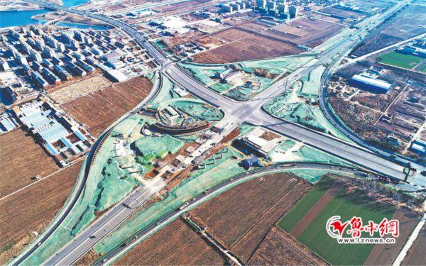 桥桥飞架 再添通途 淄博5个立交桥工程 进展最快的已完成总工程量40%左右