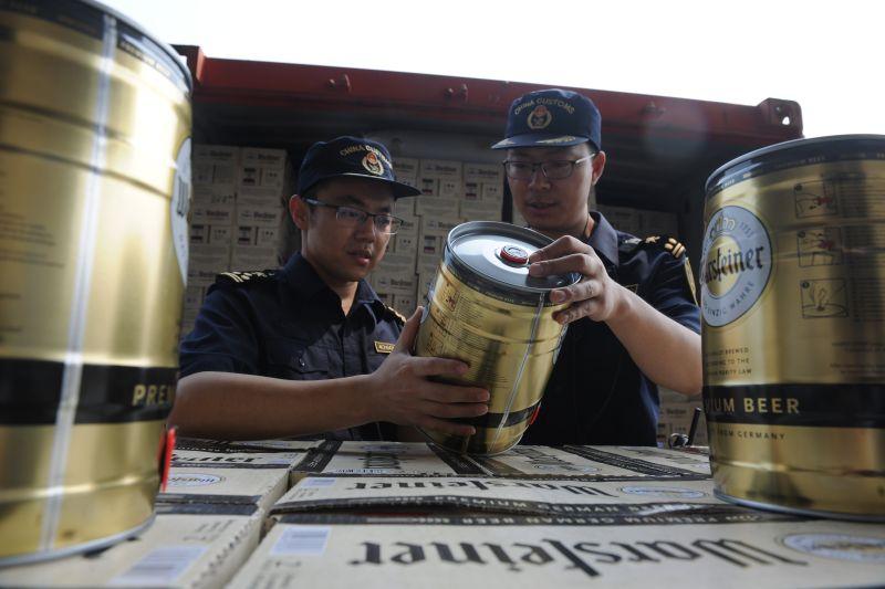 """国际啤酒节进口鲜啤到港""""零待时""""通关"""