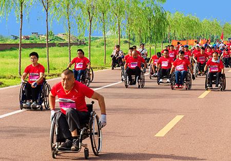 泰安成功举办全国最大规模残疾人马拉松比赛