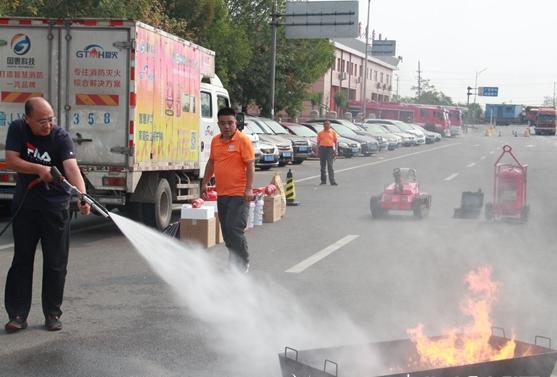 东营区举行2019消防安全万里行活动