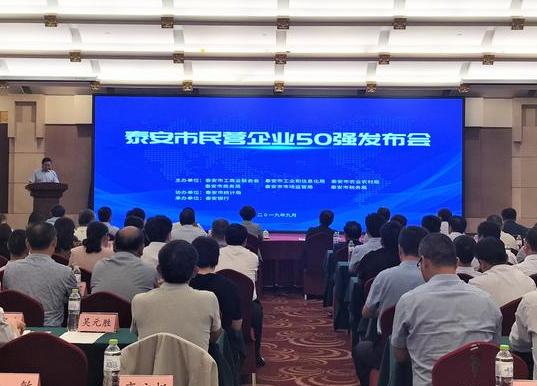 2019年泰安市民营企业50强发布!
