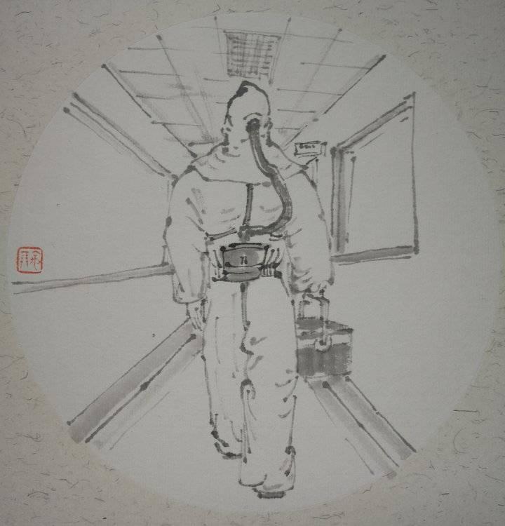 """中宏网山东2月6日电 有时,""""逆行""""是舍生忘死的勇往直前和无私奉献。这时的""""逆行者"""",用生命,筑起一道道健康防线;用生命,搭建起一道道起死回生的桥梁。(通讯员 王宇鹏)"""