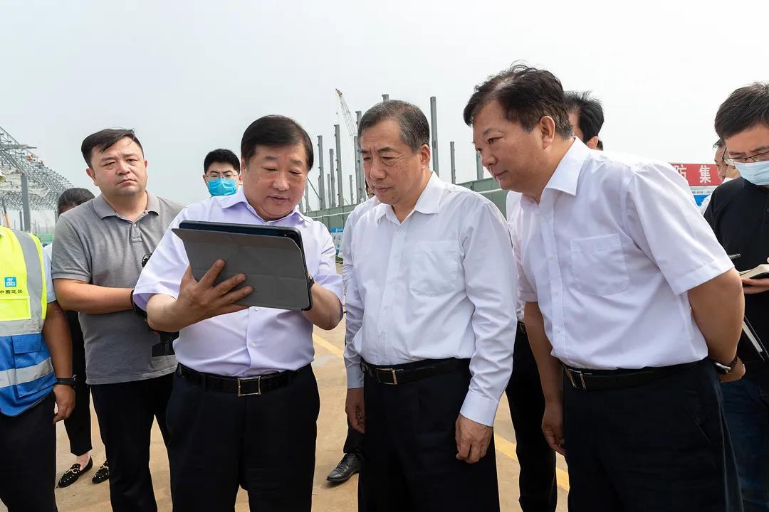 孙立成调研山东重工(济南莱芜)绿色智造产业城项目建设