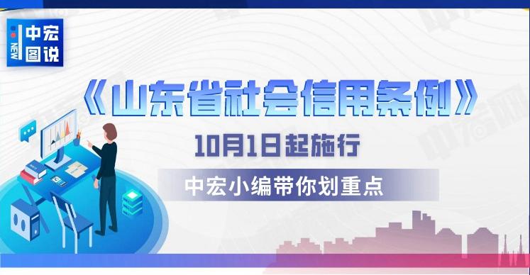 中宏图说丨《山东省社会信用条例》10月1日起施行,中宏小编带你划重点!
