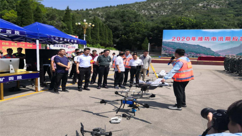 潍坊组织开展汛期地质灾害演练