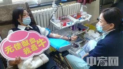 淄川区委组织机关党员干部参与无偿献血活动
