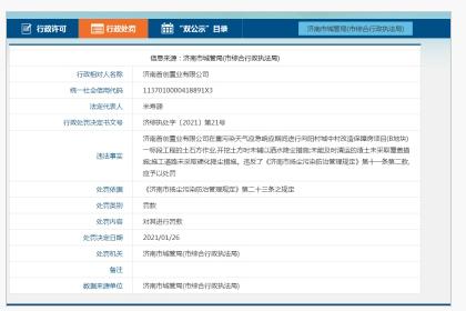 重污染天气应急响应期间违规施工 华洲建设温州公司、济南首创置业遭罚