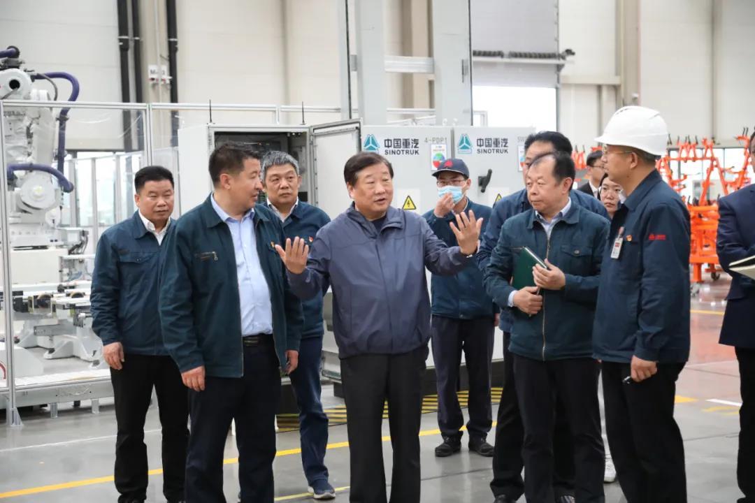 谭旭光调度山东重工莱芜智能产业园重大项目进展
